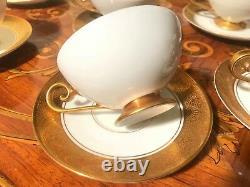 11 Coffee Tea Cup and Saucer Porcelain Set Bavaria Tirschenreuth Germany