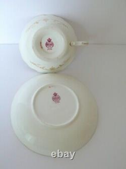 Antique MINTONS Cobalt Blue Floral Tea Cup & Saucer Set