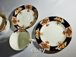 Antique Thomas Forester Phoenix Loos China Tea Set Teaset Trio Plate Cup Saucer