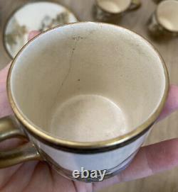 Antique/Vintage Asian Japanese Satsuma Signed Tea Cup & Saucer Set As-Is