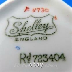 Art Deco Handpainted Fruit Shelley Tea Cup and Saucer Set