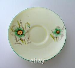 Art Deco Paragon Floral Handle Tea Cup & Saucer Set