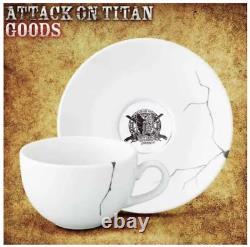Attack on Titan USJ Levi Tea cup Saucer set Universal Studios JAPAN from JAPAN
