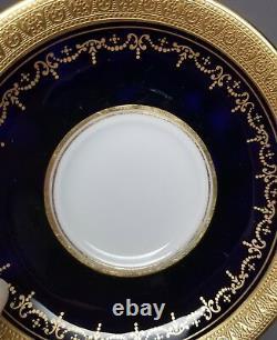 Aynsley GEORGIAN COBALT SMOOTH Tea Cup & Saucer Set 7348 READ