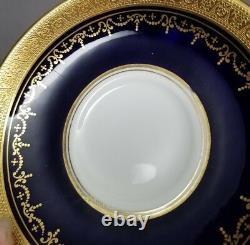 Aynsley GEORGIAN COBALT SMOOTH Tea Cup & Saucer Set 7348 READ #4