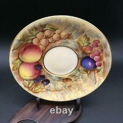 Aynsley Orchard Fruit Gold Tea Cup & Saucer Set Signed D. Jones Cs81