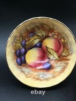 Aynsley Orchard Fruit Mint (sage) Green Tea Cup & Saucer Set Signed D Jones Cs52
