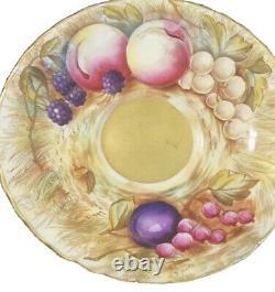 Aynsley Orchard Gold Tea Cup & Saucer Set Signed D. Jones Bone China Antique