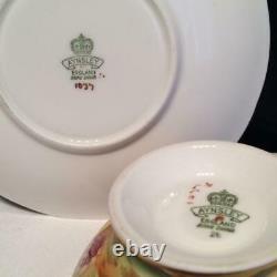 Aynsley Orchard Gold Tea Cup & Saucer Set Signed N. Brunt D. Jones Cs6