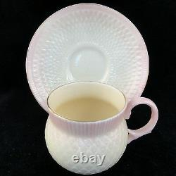 BELLEEK THISTLE PINK Tea Cup & Saucer NEW NEVER USED made in Ireland