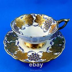 Blue Royal Stafford La Vigne D'Or Royal Stafford Tea Cup and Saucer Set