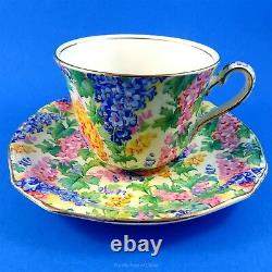 Bright Floral Chintz Royal Winton Somerset Tea Cup and Saucer Set