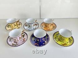 Butterfly Espresso Cup & Saucer Set of 6 by Classic Coffee & Tea