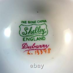 Deep Red Dubarry Shelley Tea Cup and Saucer Set