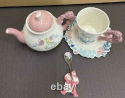 Disney Alice in Wonderland Pot Cup Saucer Tea Spoon Set