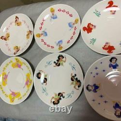 Disney Princess Tea Cup & Saucer Bell Ariel Cinderella Jasmine Aurora Set