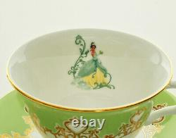 English Ladies Disney Tiana Cup And Saucer Tea Set NEW Authentic
