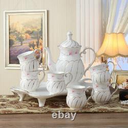 European High Quality Tea Set Cup Teapot Saucer Porcelain Coffee Mug