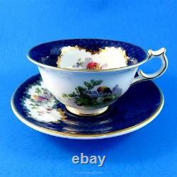 Exotic Bird on Cobalt Blue Collingwoods English Tea Cup and Saucer Set