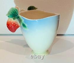 Franz Porcelain Strawberry 3 piece Tea Cup, Saucer & Spoon