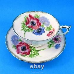 Gorgeous Anemones on Pink Paragon Tea Cup and Saucer Set