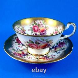 Gorgeous Friut Border & Gold Paragon Tea Cup and Saucer Set
