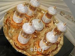 Handmade Turkish Arabic Tea Cup Saucer Set (colored)Turkish