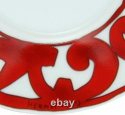 Hermes Guadalquivir Red Tea Cup Saucer Tableware set Ornament Coffee Unused New