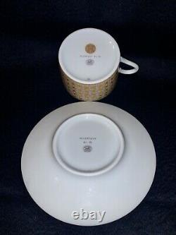Hermes MOSAIQUE AU 24 Gold Tea Cup and Saucer Set