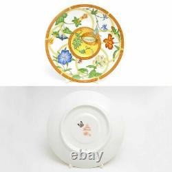 Hermes Siesta Tea Cup Saucer Tableware set Yellow Floral Porcelain Ornament New