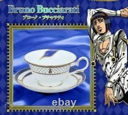 JoJo's Bizarre Adventure Bruno Bucciarati Model Tea Cup Saucer Set Mug Noritake