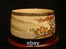 MARKED Kozan JAPANESE MEIJI SATSUMA TEA SET CUP&SAUCER / CREAMER / SUGAR / PLATE