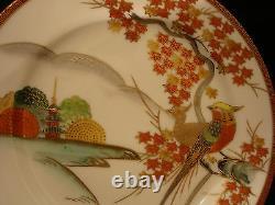 MARKED Kutani JAPANESE TAISHO SATSUMA TEA POT / EGG SHELL CUP SAUCER / PLATE SET