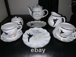 NEW Disney Tinkerbell Porcelain Tea Set Teapot, Cup, Saucer, Plate, Jug, Sugar