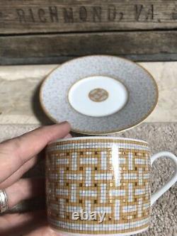 New HERMES Mosaique au 24 gold tea cup & saucer set