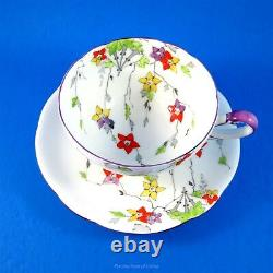Painted Very Rare Star Mark Paragon Pendant Tea Cup and Saucer Set