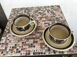 Pair of Arabia Finland Ruija Tea Cup & Saucer Set Vintage Rare Two Sets