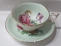 Paragon DOUBLE WARRANT Cabbage Rose Tea Cup and Saucer Set England