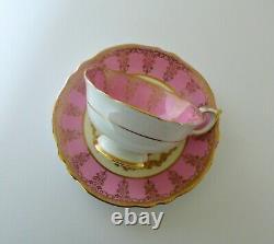 Paragon Pink Floral Bone China Tea Cup & Saucer Set