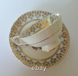 Paragon Red Cabbage Rose Tea Cup & Saucer Set