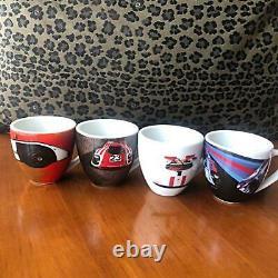 Porsche Design Espresso Demitasse Cup and Saucer set of 4 Mug Coffee Tea Rare