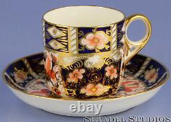 ROYAL CROWN DERBY IMARI 2451 x6 COFFEE TEA CAN CUP AND SAUCER SET. NICE