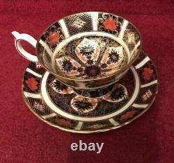 ROYAL CROWN DERBY IMARI TEA CUP & SAUCER Set Of Two