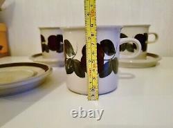 RUIJA CHOCOLATE / TEA MUG CUP & SAUCER 1 SET ARABIA FINLAND 8,8cm8.5cm