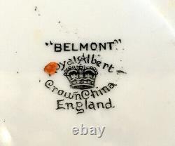 Rare Royal Albert Art Deco Balmoral Tea Cup And Saucer Set
