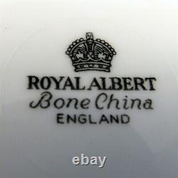Royal Albert Black and White Polka Dot Tea Cup and Saucer Set
