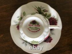 Royal Albert Royal Canadian Rose Tea Cup Saucer Set dozen bulk lot mint