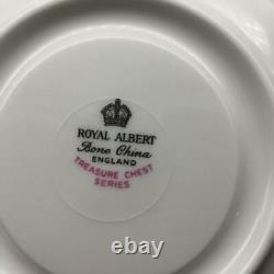 Royal Albert Treasure Chest Series Cabbage Rose Tea Cup & Saucer Set Cs125