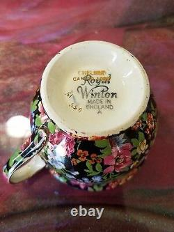 Royal Winton Chelsea Gimwades Chintz Tennis / Snack Set Tea Cup and Saucer