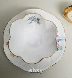 SHELLEY Ratauds Summer Bouquet (Dainty) 2354 TEA CUP & SAUCER SET Gold Trim RARE